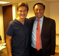 Dr. Mosaraf Ali together with Dr. Oz