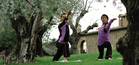 A Yoga Class at Castel Monastero - Doctor Mosaraf Ali
